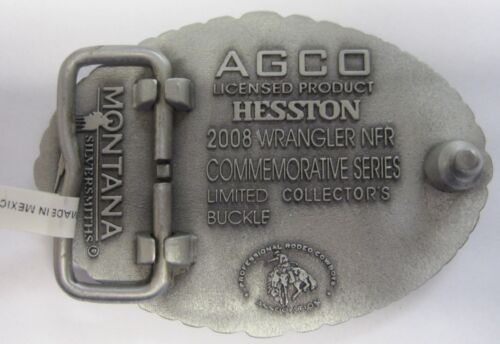 NFR Cowboy Buckle New AGCO PCRA Small National Finals Rodeo Hesston 2008 Youth