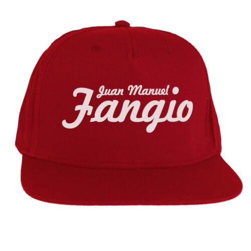 Cappello Juan Manuel Fangio Formula 1 SnapBack Cap Rosso Ferrari Alfa Romeo