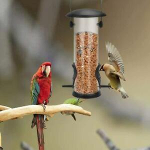 Squirrel-Proof-Bird-Feeder-Hanging-Cage-Seed-Food-Outdoor-Small-Wild-Garden-Yard