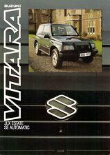 Suzuki Vitara JLX SE Estate Automatic 1989-90 UK Market Leaflet Sales Brochure