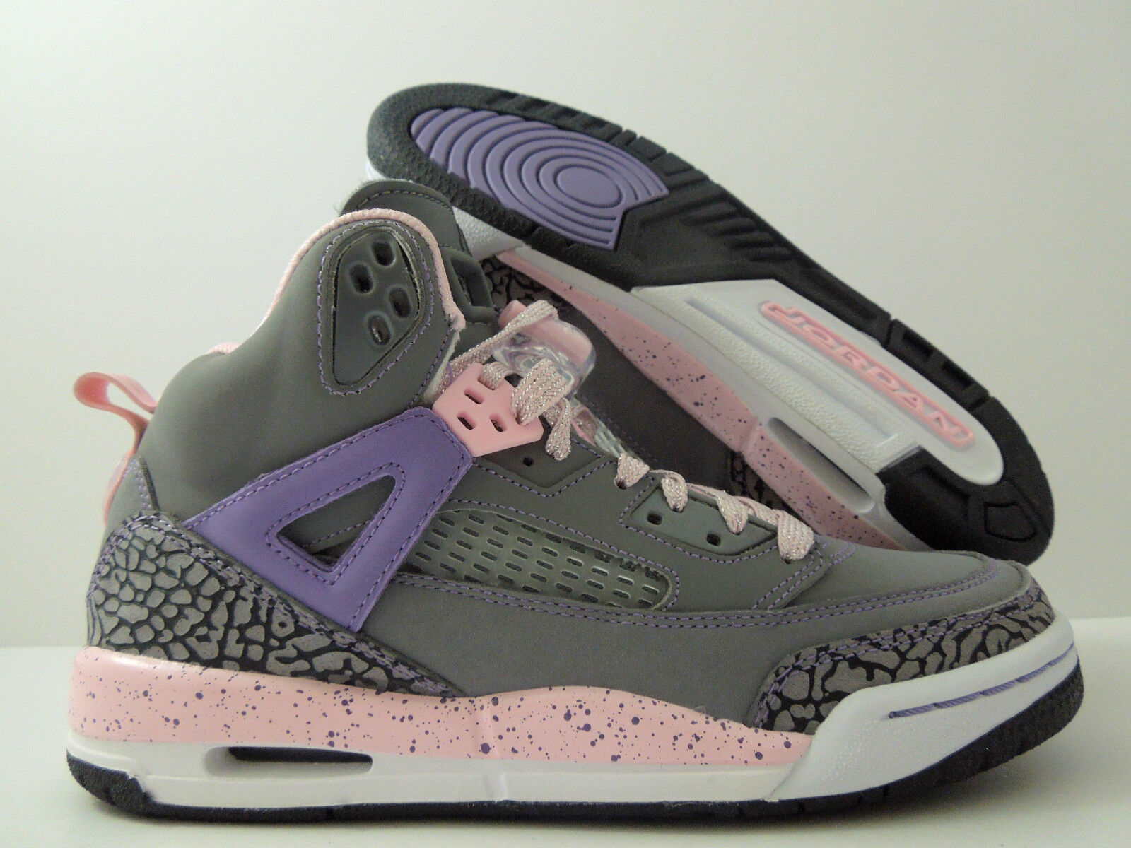 NIKE GIRLS AIR JORDAN SPIZIKE GS GREY-PINK WMNS SZ 7 - SZ 5.5Y [535712-028]
