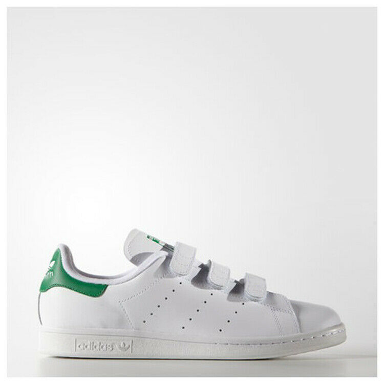 Adidas Originals Stan Smith CF Strap White Green Men's shoes S75187