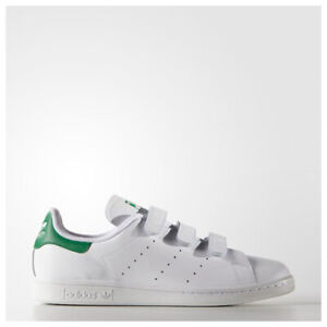 online store ecb0e f2490 Image is loading Adidas-Originals-Stan-Smith-CF-Strap-White-Green-