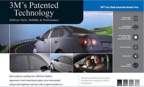 3M Window Film Color Stable 50/% VLT Automotive Solar Tint Multi Size CS50