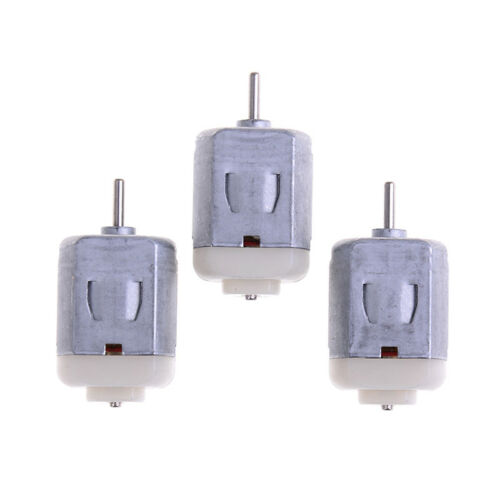 3Pcs 130 small electric motor 3v to 6v low voltage miniature dc motor diy toy LE