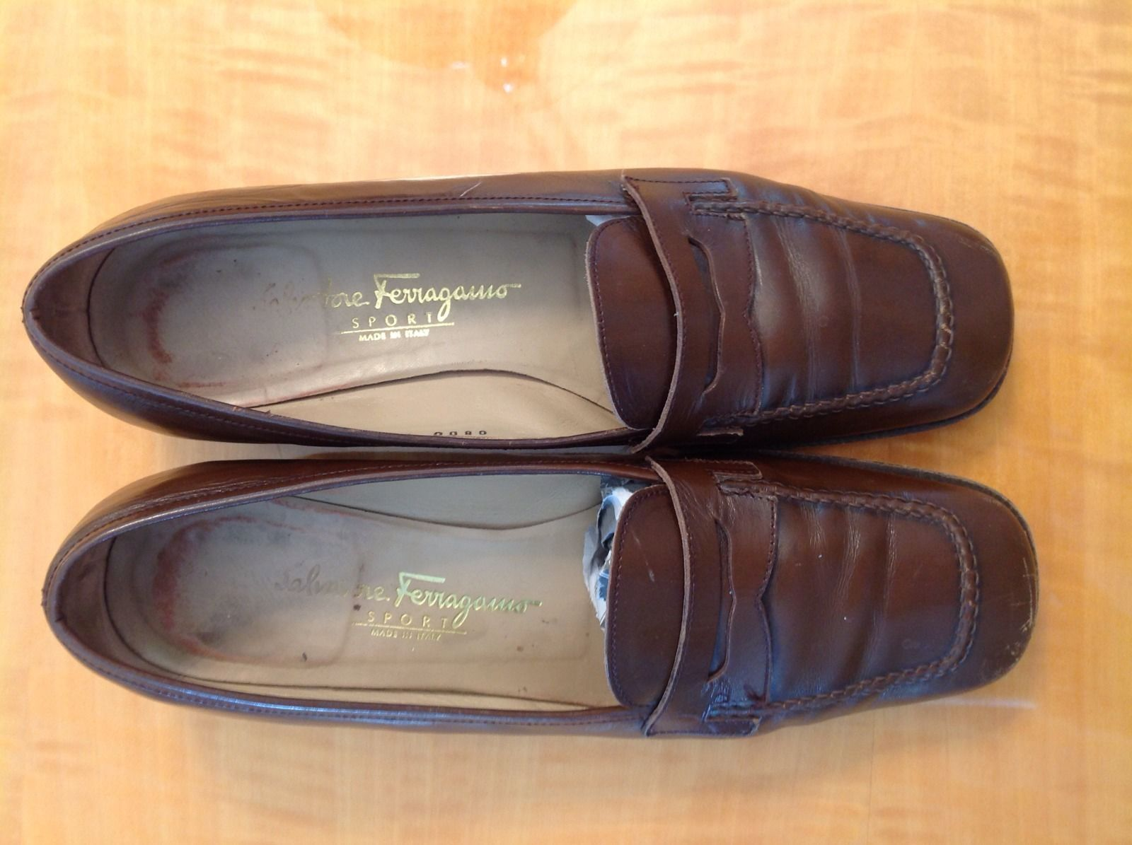 VGC Salvatore SZ Ferragamo Sport Penny Loafers SZ Salvatore 7.5 B Made in  07b482