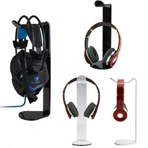 Black-White-Clear-Acrylic-Earphone-Hanger-Holder-Gaming-Headphone-Display-Stand