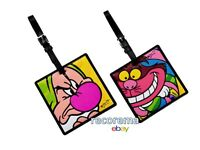 Romero Britto Lot Of 2 Disney Luggage Tags: Grumpy & Cheshire Cat