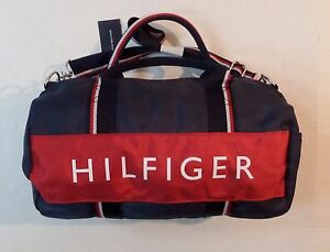 b67a20585c446 Image is loading Tommy-Hilfiger-Travel-Gym-Mini-Duffle-Bag