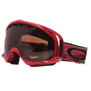 Oakley 02-633 Crowbar Bright Red w/ VR28 Lens Snow Board Mens Ski Goggles .