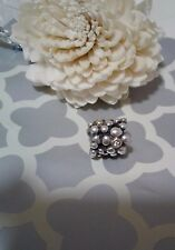 Pandora Authentic Silver 14k Gold Diamond Daisy Flower Charm Bead 790317D