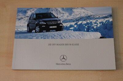 68134) Mercedes M-klasse Prospekt 11/2002