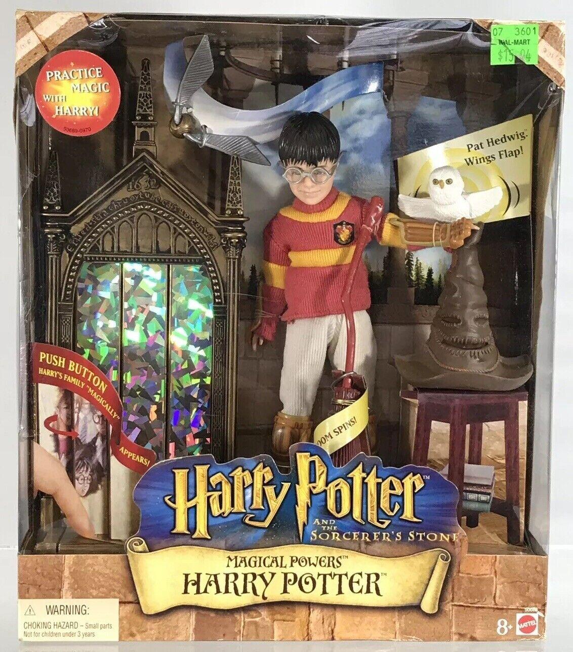 "Mattel Magical energias Harry Potter Sorcerers Stone 6"" cifra Sorting  Hat Hedwig  Ultimo 2018"