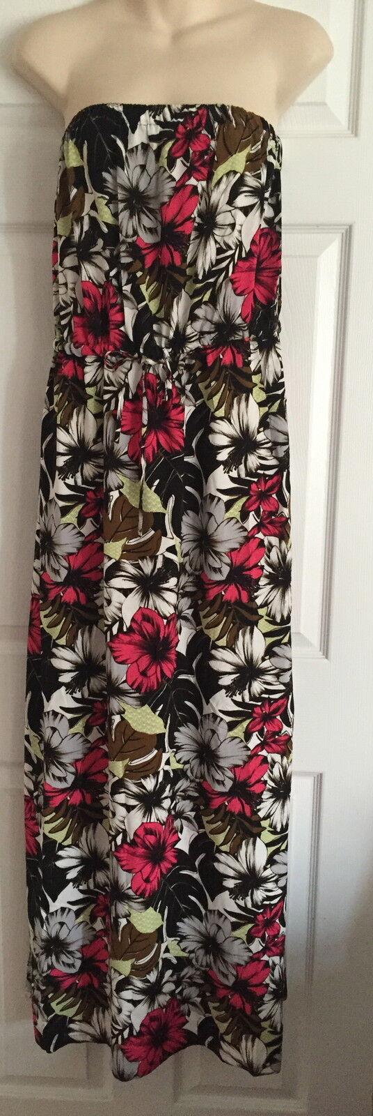 BNWT NEXTFLORAL LONG MAXI BOOBTUBE  DRESS SIZE 14 16