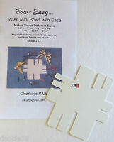 Bow Easy Mini Portable Bow Maker Template Makes 7 Different Sizes Of Bows