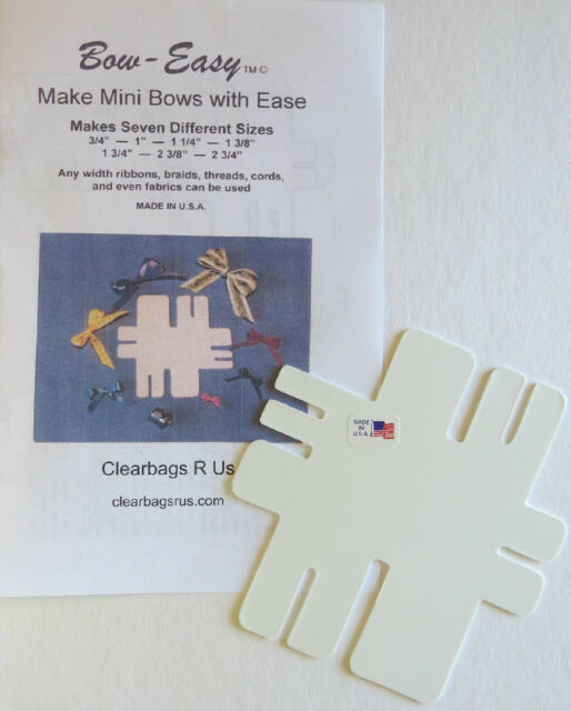 Bow Easy Mini Portable Bow Maker Template Makes Different Sizes Of - Ebay template maker
