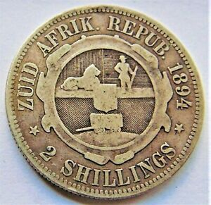 1894-ZAR-SOUTH-AFRICA-Kruger-silver-2-Shillings-grading-VERY-GOOD