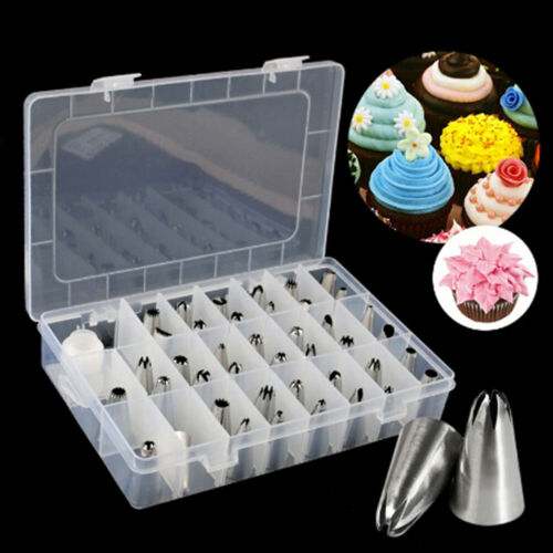 42Pcs Durable Large Icing Piping Nozzles Pastry Stainless Steel TipsZBdd