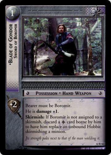 LoTR TCG BR Black Rider Blade of Gondor Sword of Boromir 12R42