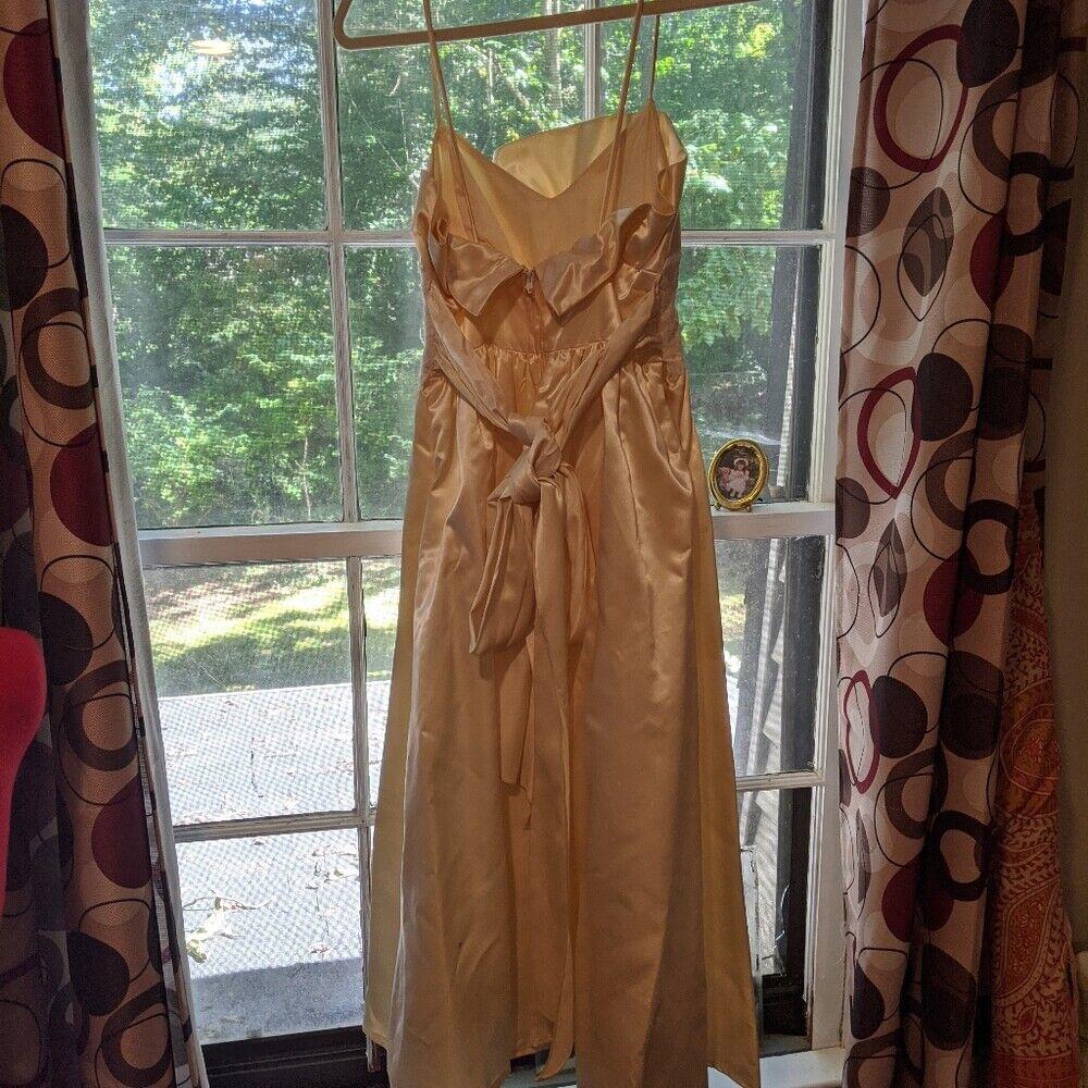 Gunne Sax Dress Ivory Satin Formal Dress S Lace - image 2