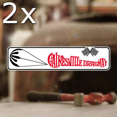 """2x pieces Dragway 42 sticker decal hot rod drag racing old school 3.25/"""""""