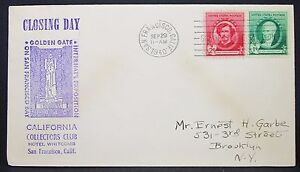 Golden-Gate-Hand-Stamped-US-Closing-Day-Cover-Sf-Whistler-2c-Mif-USA-Brief-Y-616