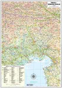 Dettagliata Cartina Del Friuli Venezia Giulia.Carta Geografica Murale Regione Friuli Venezia Giulia 47x 70 Cm Belletti Cartina Ebay
