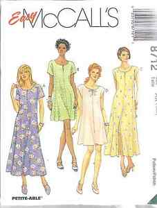 8712-UNCUT-McCalls-SEWING-Pattern-Misses-Easy-Fitting-Flared-Dress-FF-OOP-SEW