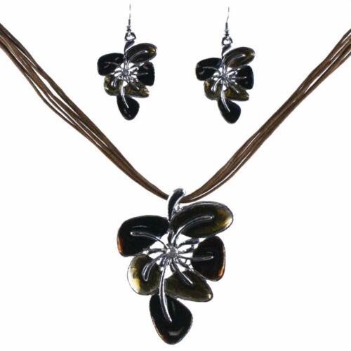 Esmaltada Flor Conjunto De Collar Surtidos