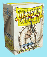 Dragon Shield 100 White Standard Size Card Sleeves W/ Deck Box Protector