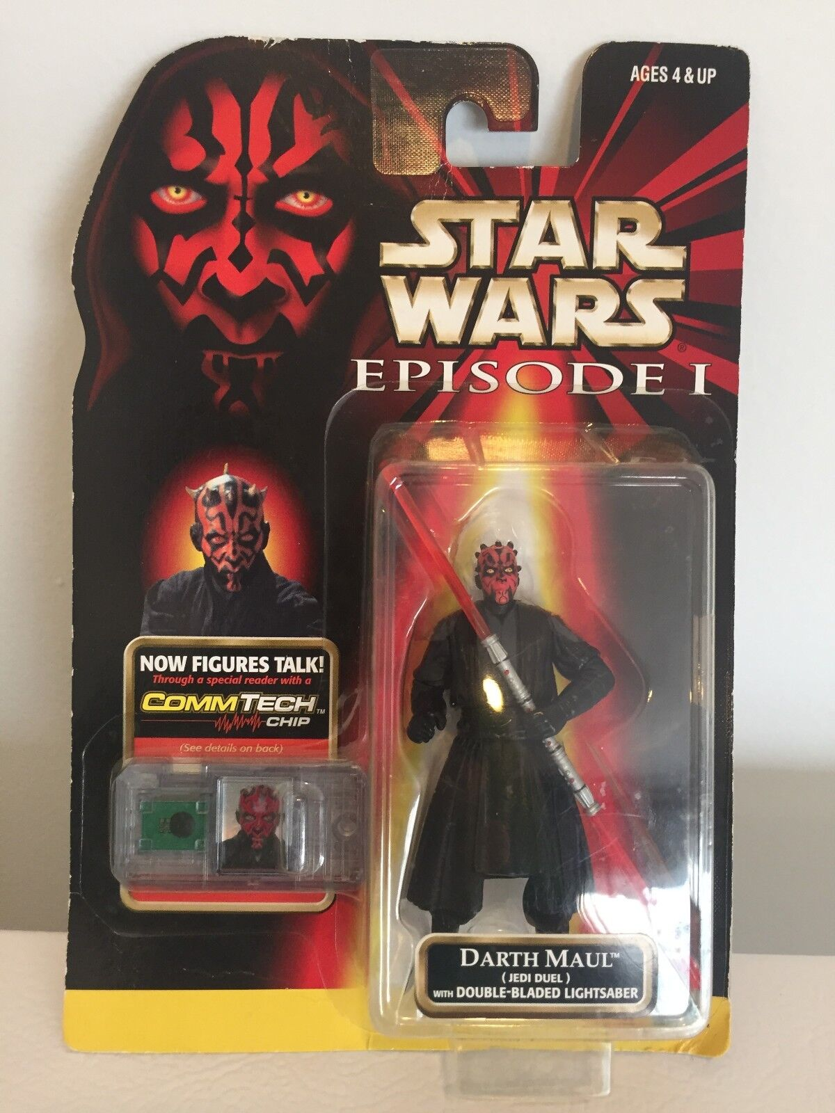 NEW Darth Maul Jedi Duel with Double-Bladed Lightsaber Action Figure Episode 1