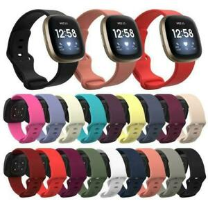 Soft Silicone Sport  Watch Band Wrist Strap For Fitbit Versa 3 / Fitbit Sense