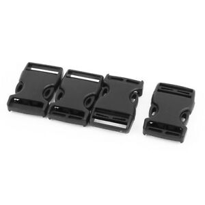 4pcs Plastic Side Quick Release Buckles Clip for 25mm Webbing Band Black E7K4 191466891827