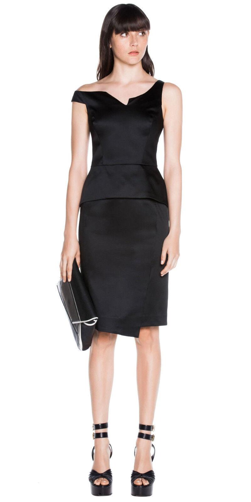 BNWT CUE Satin Asymmetric Dress Sz 6 RRP