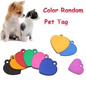 5-PCS-Random-De-Chien-Anti-Lost-Pendentif-Coeur-Etiquette-D-039-animal-Familier