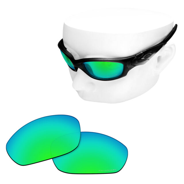 33c156082e377 OOWLIT Replacement Lenses for-Oakley Straight Jacket 2007 POLARIZED - Green