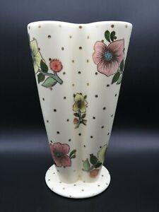 Lenci , Vaso quattro colonne con fiori. Altezza 23 cm.
