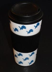 NFL-Detroit-Lions-16-Oz-Plastic-Tumbler-Travel-Cup-Hot-Cold-Coffee-Mug-No-Spill