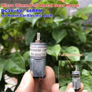 DC 6V-12V 69RPM 16mm Micro Full Metal Gearbox Gear Motor Mini Reduction Motor
