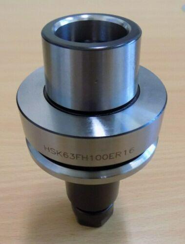 HSK63F ER16 Collet Chuck x 100mm L for CNC Routers//HSM Spindle HSK-F63 DIN69893F