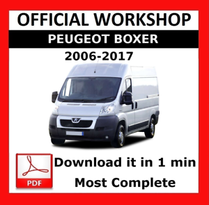 official workshop manual service repair peugeot boxer 2006 2017 rh ebay ie