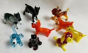 Russian-Hand-Blown-Art-Glass-Figurine-Puppy-Dogs-K9-Many-Breeds-You-Choose-2