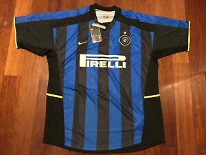 pretty nice d1c8d 0acf4 Details about Inter Milan 2002/2003 Season Home Football Jersey