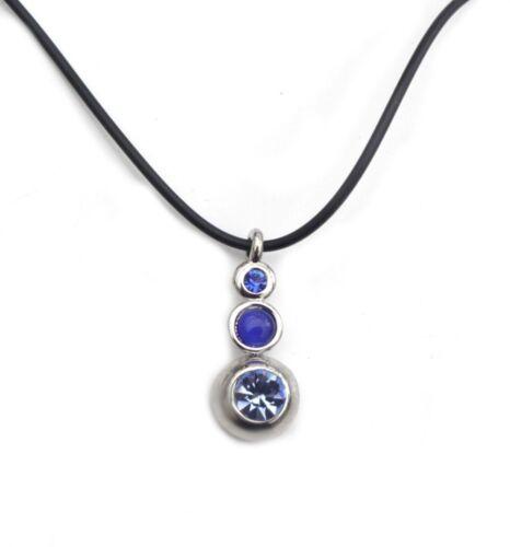 langer Anhänger Strass runde Steine Halskette Modekette Kautschukkette Glas