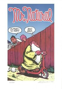 R-CRUMB-MR-NATURAL-SIGNED-AND-NUMBERED-ART-PRINT-2003-IMPORTED-FROM-ITALY