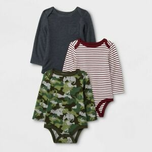 Simple Joys by Carters Baby 5 Pack Long-Sleeve Bodysuits Boys Size 6-9 M