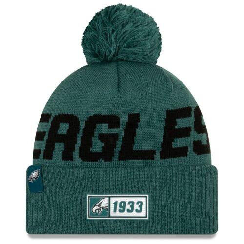 New Era NFL Sideline 2019 Philadelphia Eagles Teal Road Official Sport Knit