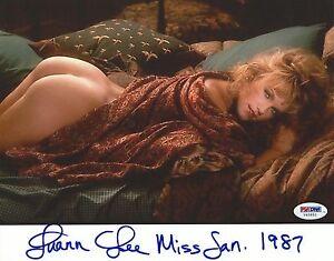 Luann-Lee-Firmado-Playboy-8x10-Foto-PSA-DNA-COA-Playmate-Imagen-1987-Auto-039-D-6
