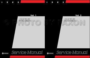 1988 Dodge Truck Shop Manual D100-W350 Pickup Ramcharger Repair Service Book OEM