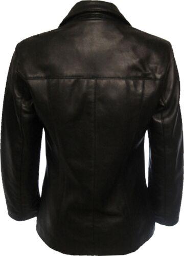 Real Style Black Jacket Leather Womens Blazer h8 Unicorn OqRIx